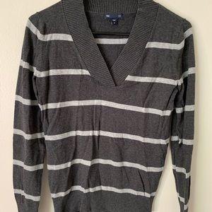 Gap Grey Striped Sweater
